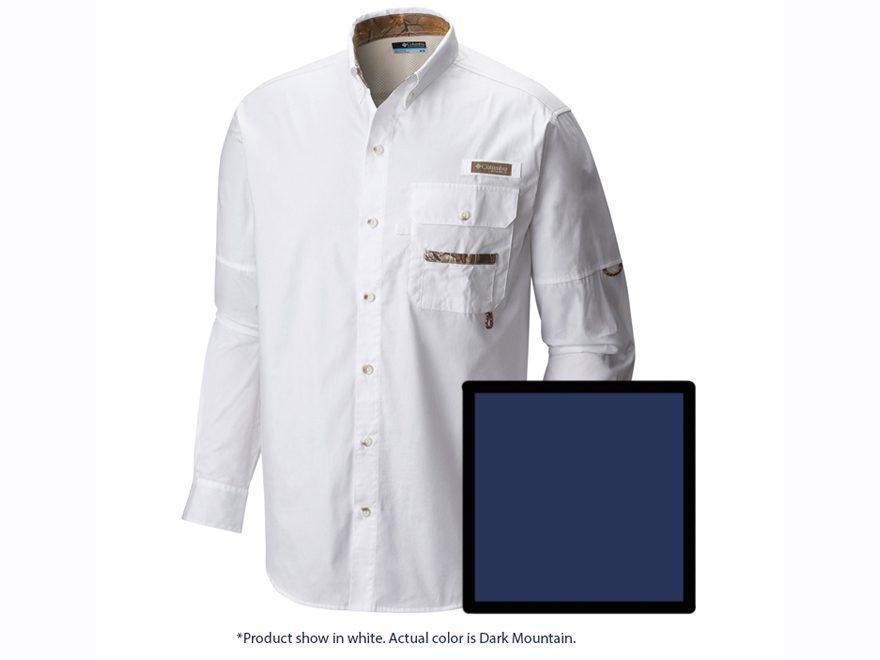 Columbia Men's PHG Sharptail Button-Up Shirt Long Sleeve Cotton