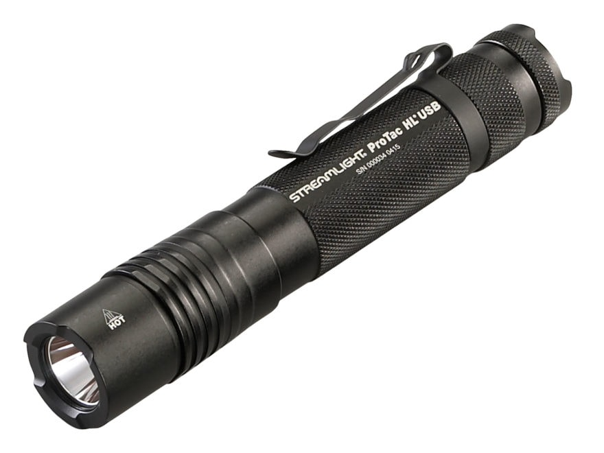 Streamlight ProTac HL USB Flashlight LED with Rechargeable Lithium Ion Battery Aluminum...
