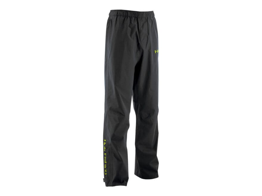 Huk Men's Waterproof Packable Rain Pants Polyester