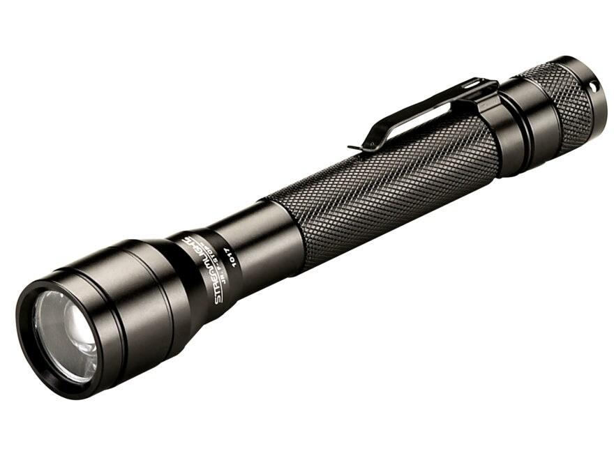 Streamlight Jr. F-Stop Flashlight LED with 2 AA Batteries Aluminum Black