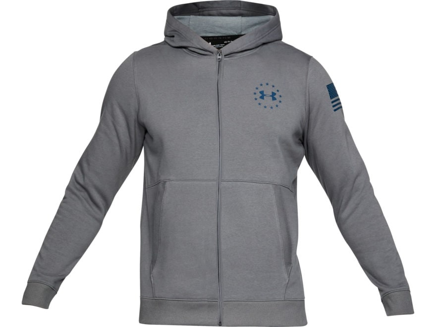 Under Armour Men's UA Freedom Threadborne Fleece Full-Zip Hoodie Polyester