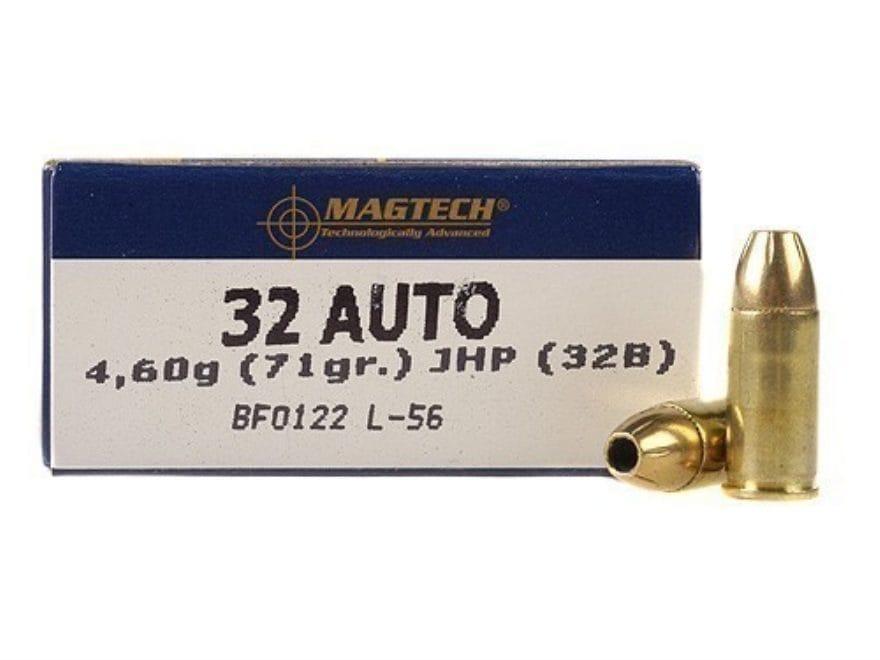 Magtech Sport Ammunition 32 ACP 71 Grain Jacketed Hollow Point Box of 50