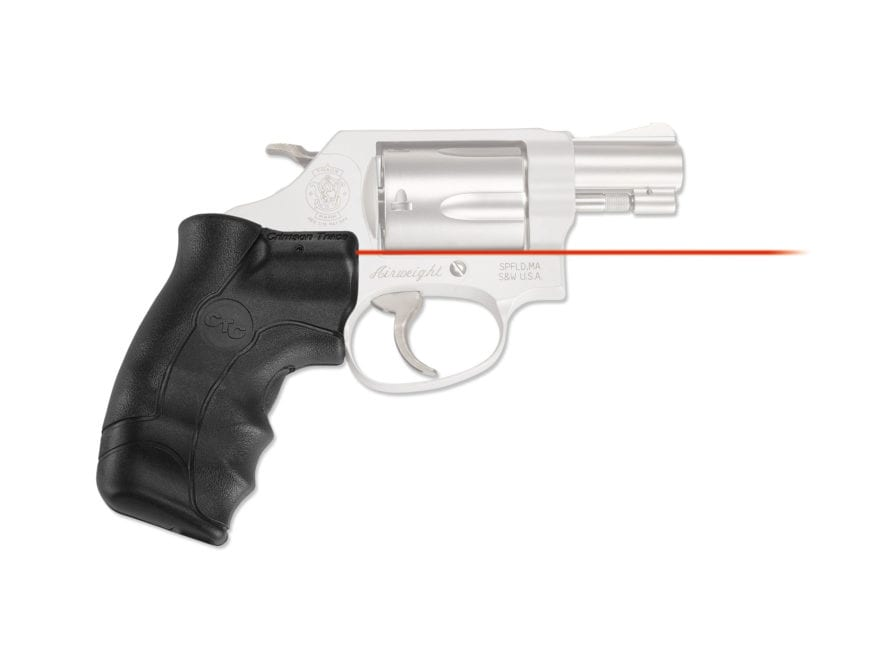 Crimson Trace Lasergrips Smith & Wesson J-Frame Round Butt Black