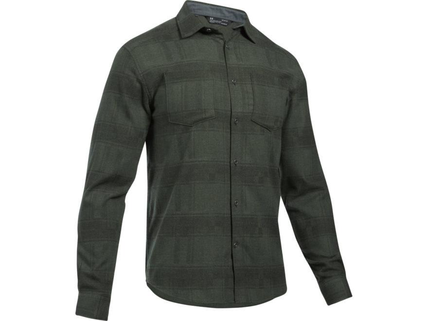 Under Armour Men's UA Borderland STR Flannel Shirt Long Sleeve Charged Cotton