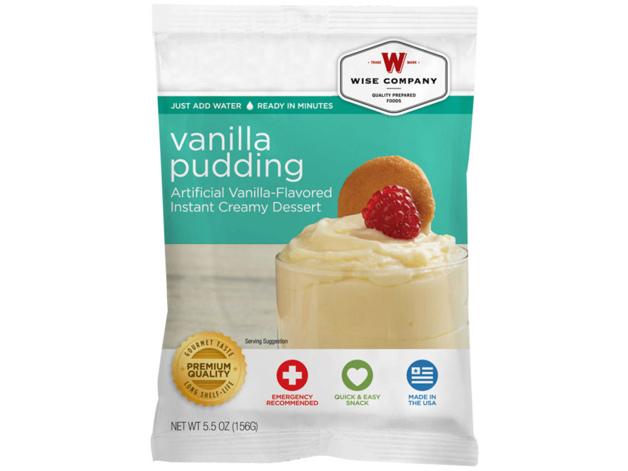 Wise Company Long Term 25 Year 4 Serving Vanilla Pudding Freeze Dried Food