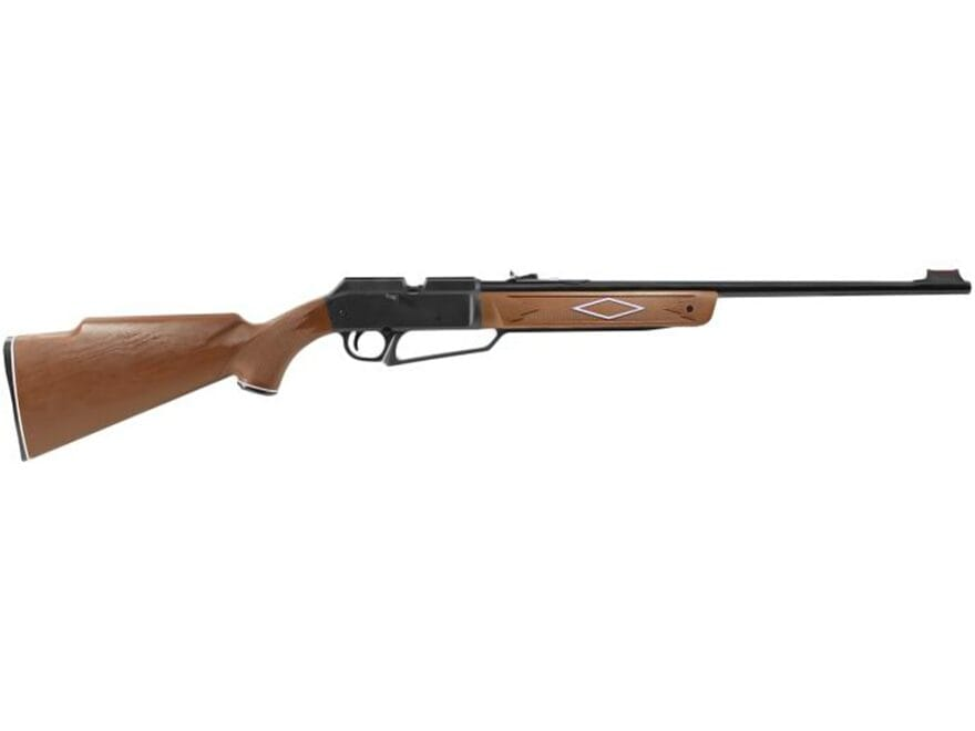 Daisy Powerline 880 Pump 177 Caliber BB and Pellet Wood Synthetic Stock Blue Barrel