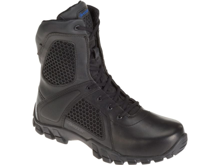 "Bates Shock 8"" Side-Zip Tactical Boots Leather/Nylon Men's"