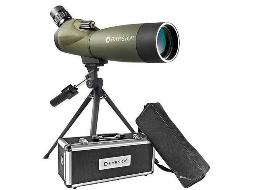 Barska Blackhawk Spotting Scope 20-60X 80mm Angled Body with Tripod, Hard and Soft Case...