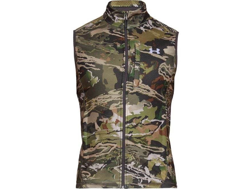 Under Armour Men's UA Offgrid Fleece Camo Scent Control Vest Polyester