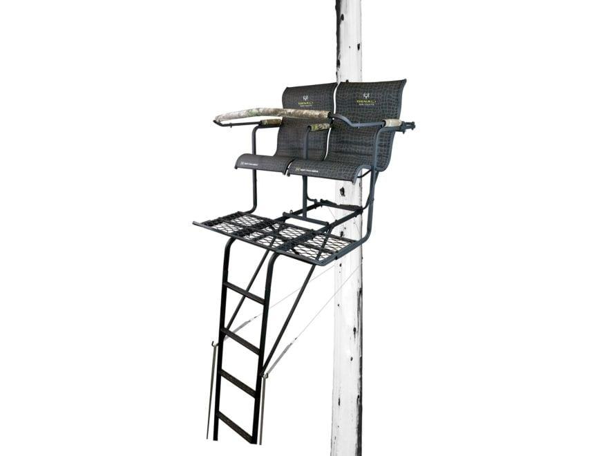 Hawk Denali 18' Double Ladder Treestand Steel Black