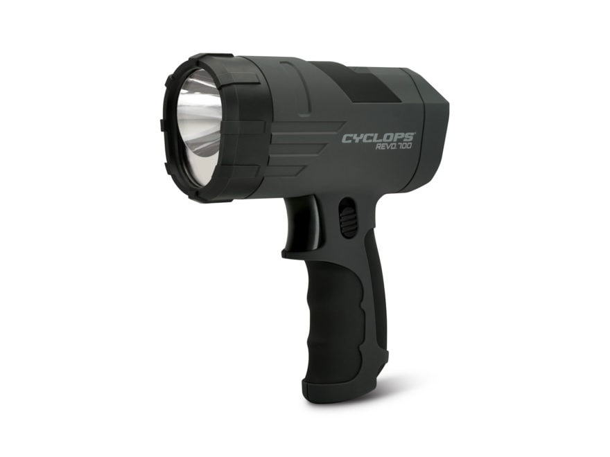 Cyclops REVO 700 Handheld Spotlight LED with Rechargeable Battery Polymer Black