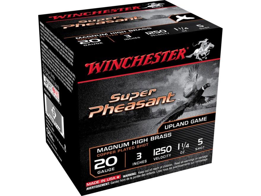 "Winchester Super-X Super Pheasant Ammunition 20 Gauge 3"" 1-1/4 oz #5 Copper Plated Shot"