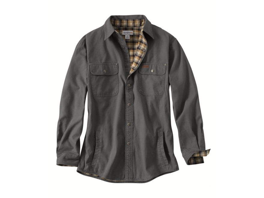 Carhartt Men's Weathered Canvas Shirt Jac Snapfront Cotton