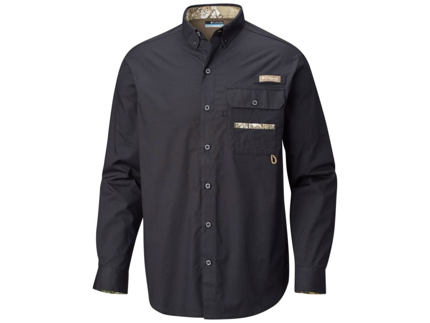 Columbia Men's PHG Sharptail Button-Up Long Sleeve Shirt Cotton