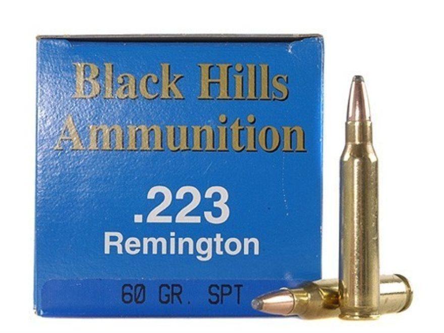 Black Hills Remanufactured Ammunition 223 Remington 60 Grain Soft Point Box of 50