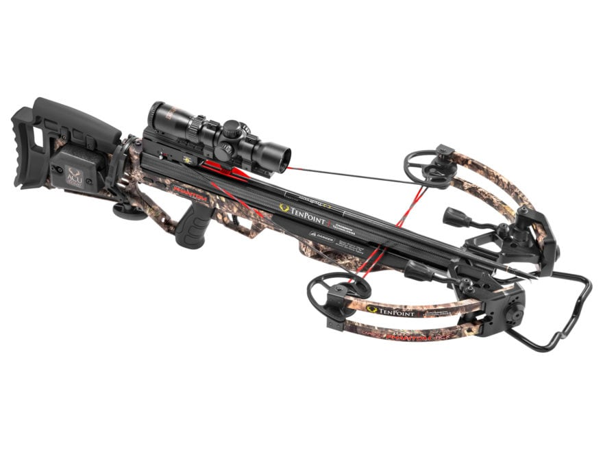 TenPoint Carbon Phantom RCX Crossbow Package with Rangemaster Pro Scope Mossy Oak Count...