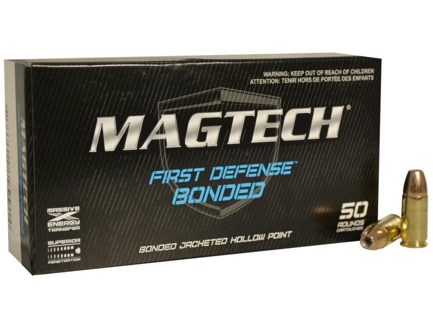 Magtech First Defense Bonded Ammunition 9mm Luger 124 Grain Bonded Hollow Point