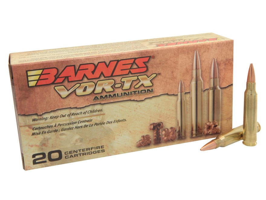 Barnes VOR-TX Ammunition 5.56x45mm NATO 62 Grain TSX Hollow Point Boat Tail Lead-Free B...