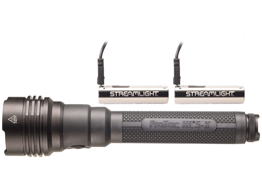 Streamlight ProTac HL5-X USB Flashlight LED with Rechargeable 18650 Battery Aluminum Black