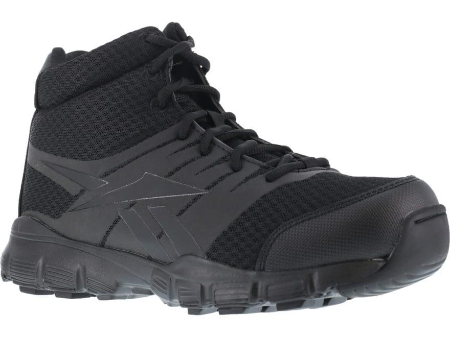"Reebok Dauntless Ultra-Light 5"" Side-Zip Tactical Boots Leather/Nylon Men's"