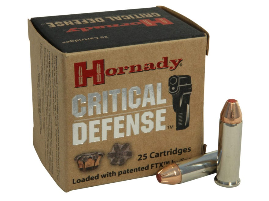 Hornady Critical Defense Ammunition 38 Special +P 110 Grain Flex Tip eXpanding Box of 25