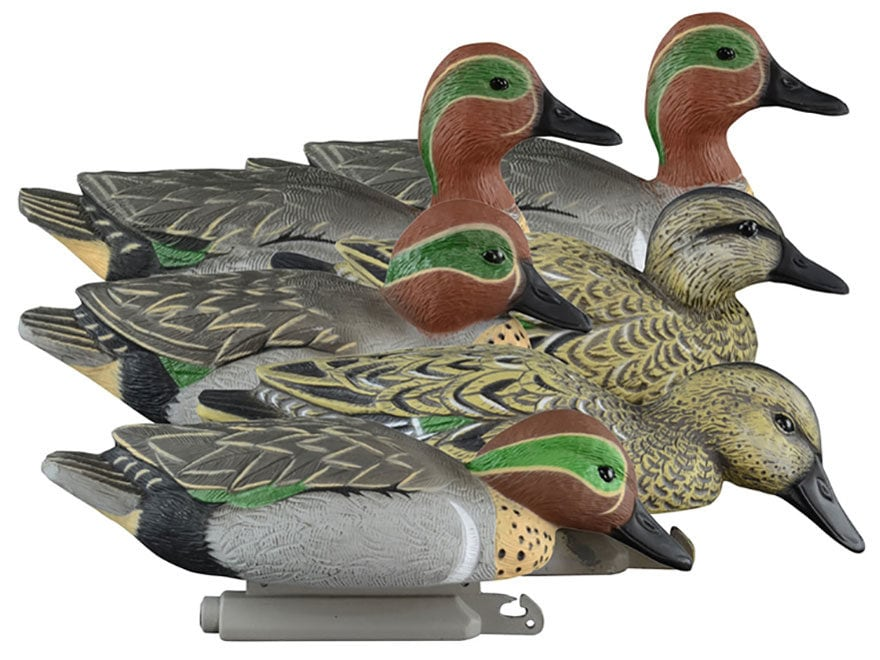 Higdon Standard Foam Filled Green Wing Teal Duck Decoy Polymer Pack of 6