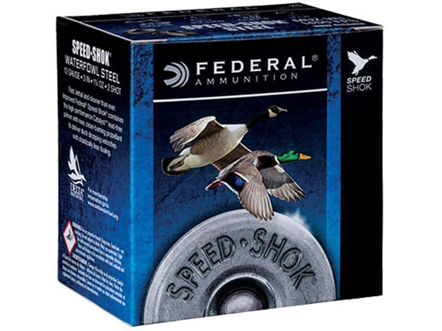"Federal Speed-Shok Waterfowl Ammunition 28 Gauge 2-3/4"" 5/8 oz #6 Non-Toxic Steel Shot"