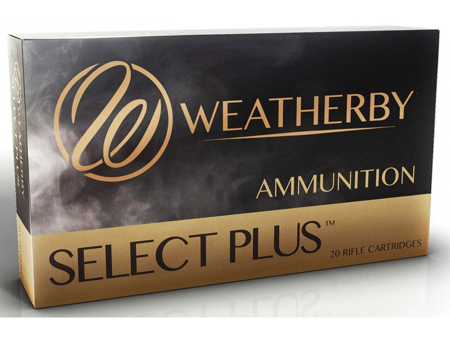 Weatherby Select Plus Ammunition 300 Weatherby Magnum 165 Grain Nosler Ballistic Tip 20