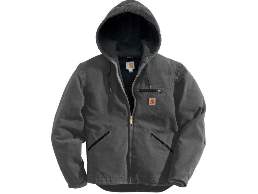Carhartt Men's Sierra Sherpa-Lined Sandstone Hooded Jacket Cotton