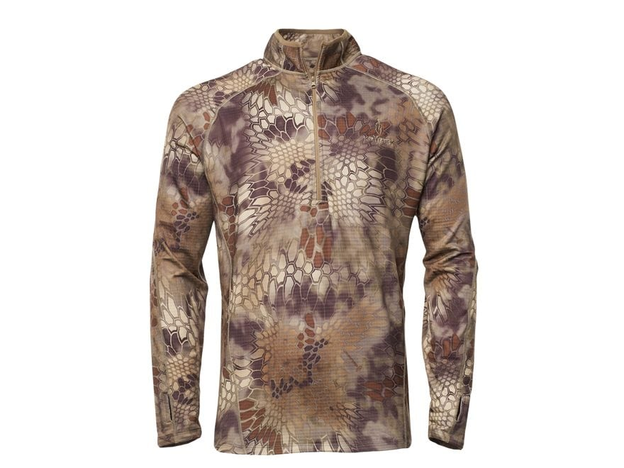 Kryptek Men's Cronos Fleece 1/2 Zip Shirt Long Sleeve Polyester/Spandex