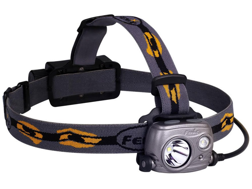 Fenix HP25R Headlamp LED with USB Rechargeable 18650 Li-ion Battery Aluminum Black