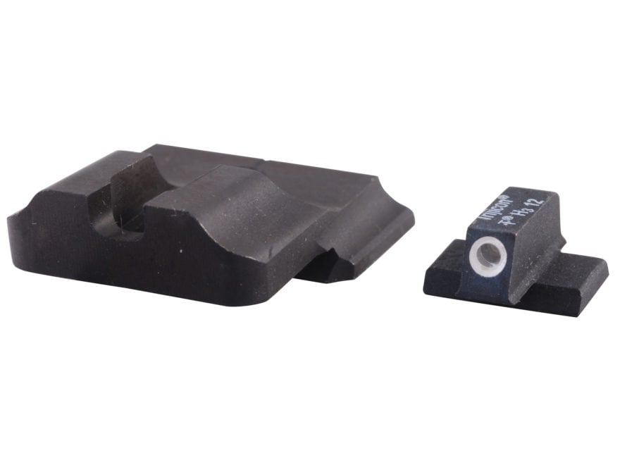 Warren Tactical Night Sight Set S&W M&P, M&P Compact Plain Tactical Rear, 1-Dot Tritium...