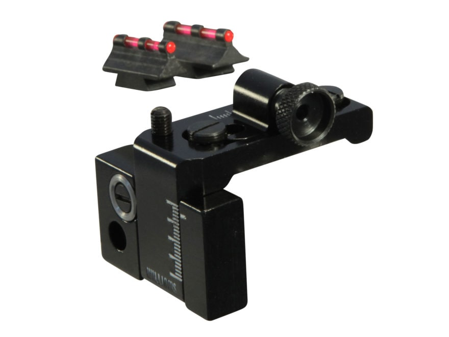 Williams Fire Sight Set Winchester 94 Top Eject Aluminum Black Fiber Optic Red Front, R...