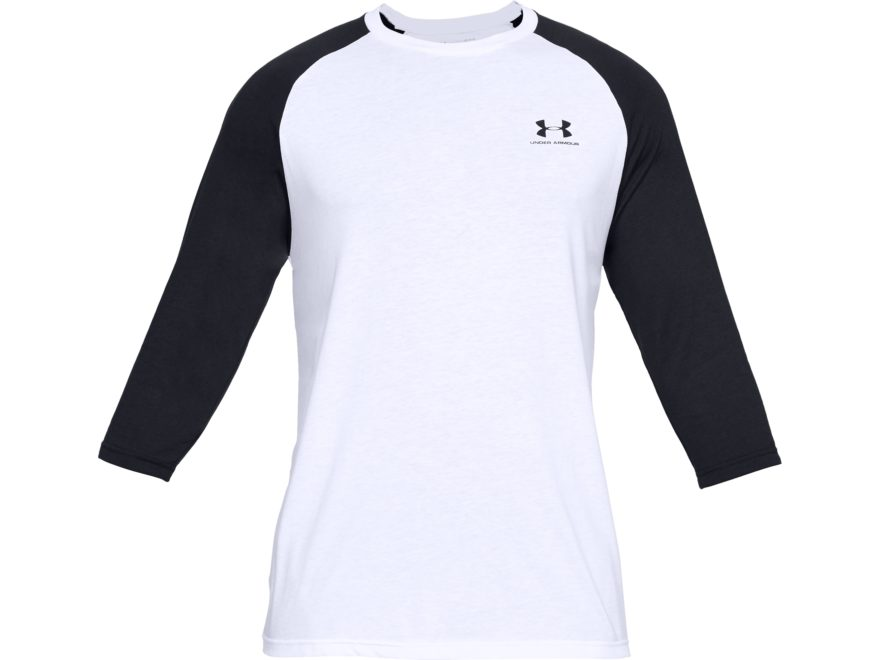 Under Armour Men's UA Sportstyle Left Chest 3/4 Sleeve T-Shirt Charged Cotton