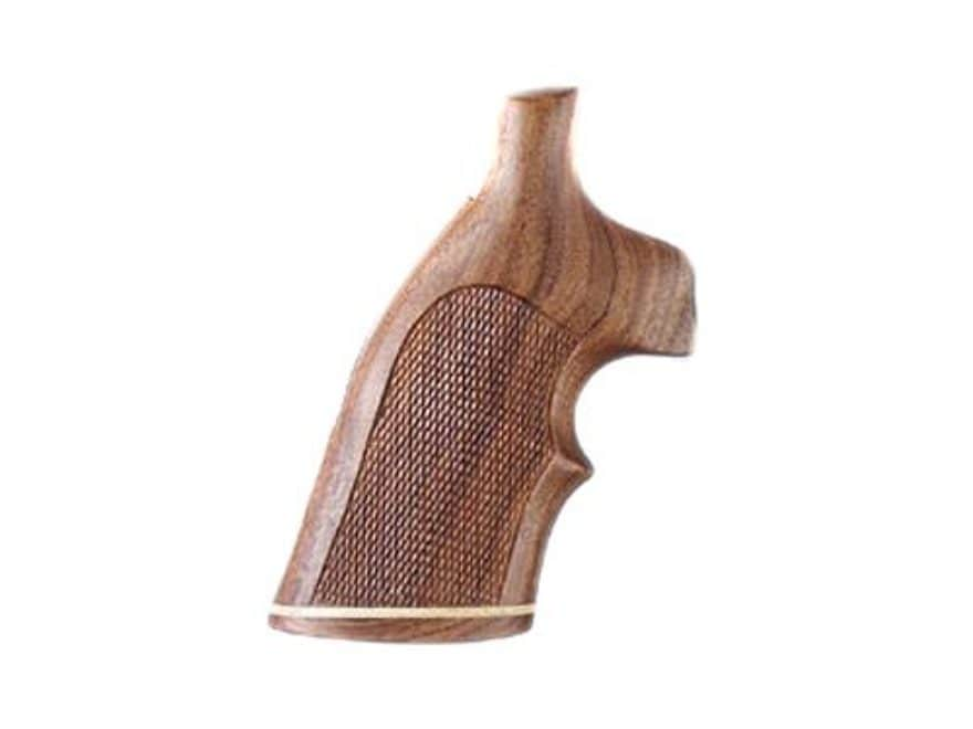 Hogue Fancy Hardwood Grips with Accent Stripe and Top Finger Groove S&W N-Frame Round B...
