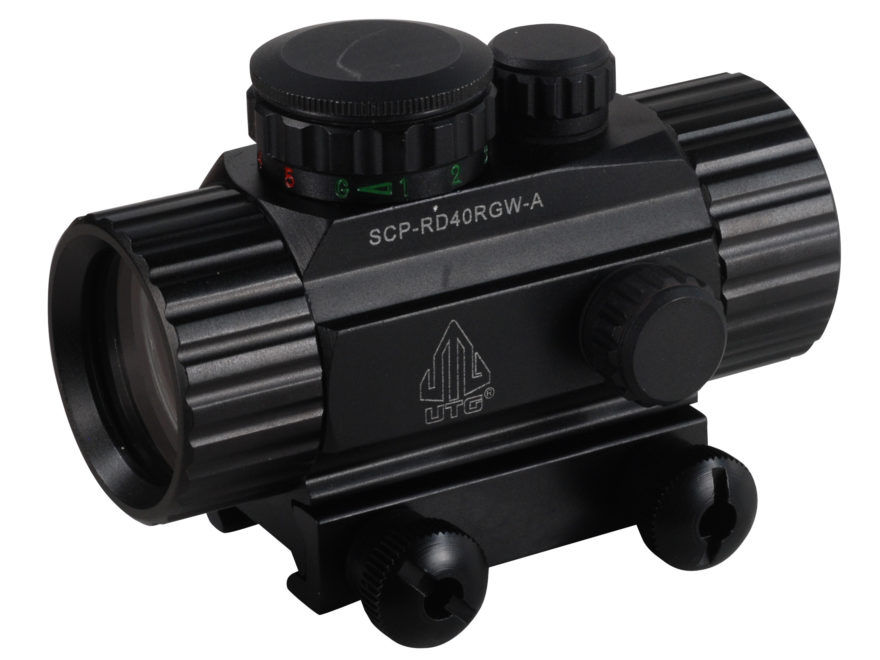 UTG Red Dot Sight 38mm Tube 1x 4 MOA Red and Green Dot with Integral Picatinny Mount Matte