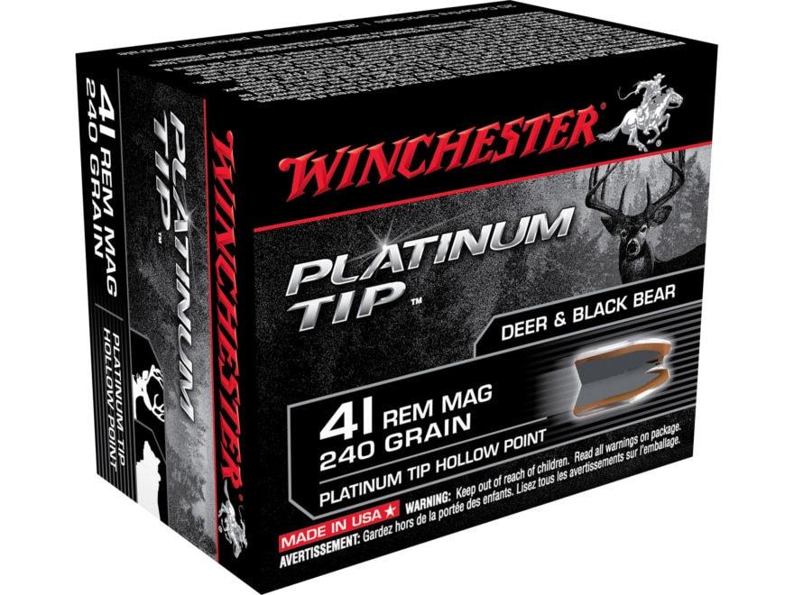 Winchester Ammunition 41 Remington Magnum 240 Grain Platinum Tip Hollow Point