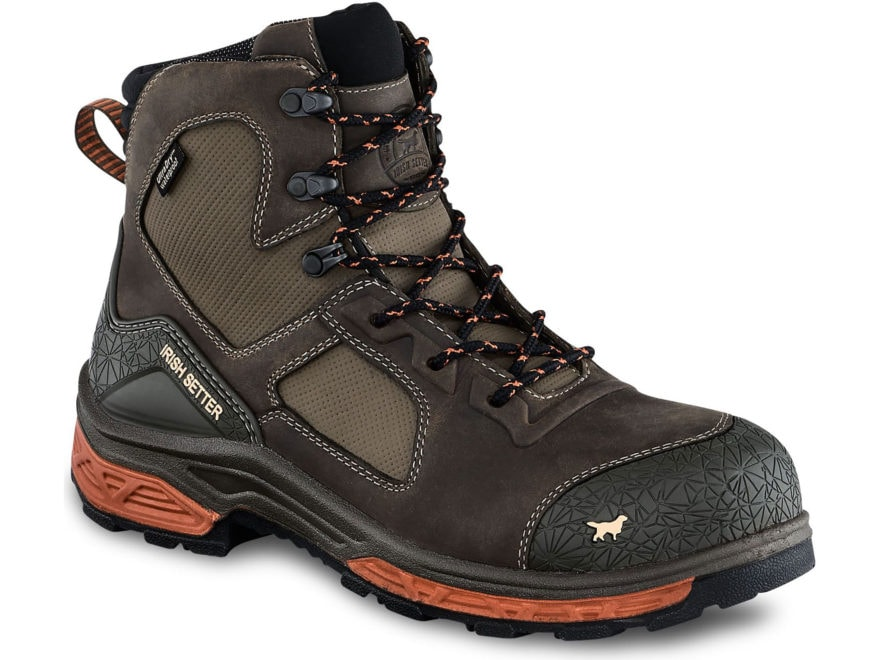 "Irish Setter Kasota 6"" Waterproof Non-Metallic Safety Toe Work Boots Men's"