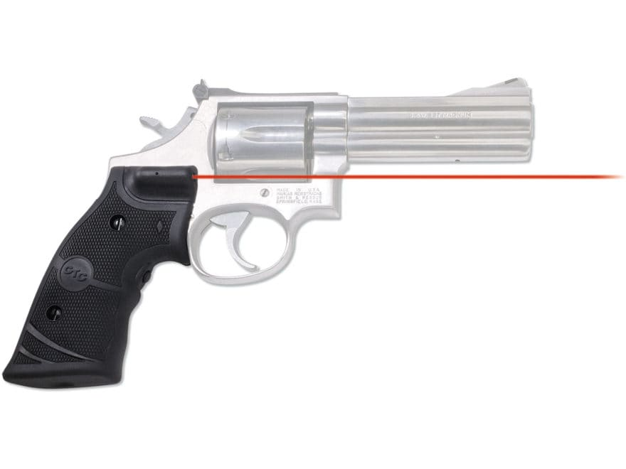 Crimson Trace Lasergrips Smith & Wesson K-, L-Frame Revolver Rubber Black