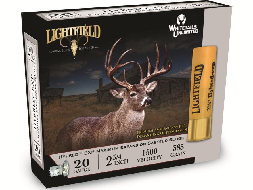 """Lightfield Hybred EXP Ammunition 20 Gauge 2-3/4"""" 7/8 oz Sabot Slug Box of 5"""