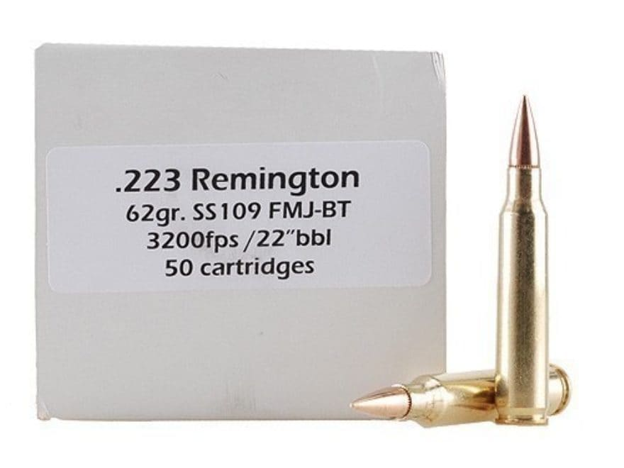 Doubletap Ammunition 223 Remington 62 Grain M855 SS109 Penetrator Full Metal Jacket Boa...