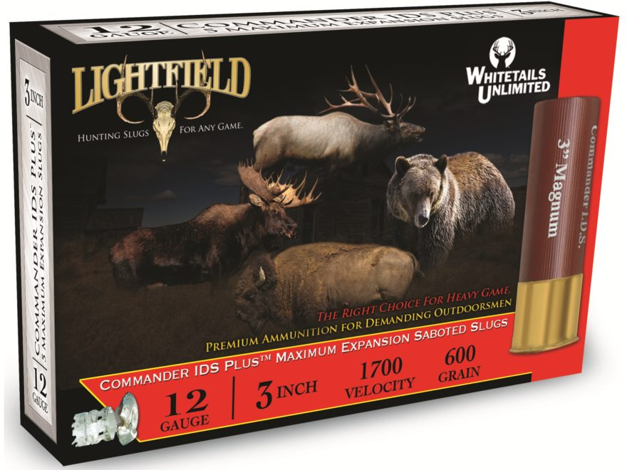 "Lightfield Commander IDS Plus Ammunition 12 Gauge 3"" 1-3/8 oz Sabot Slug Box of 5"