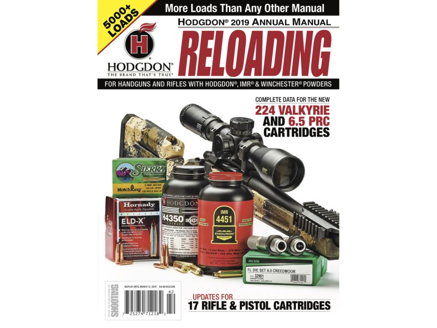 Hodgdon 2019 Annual Reloading Manual