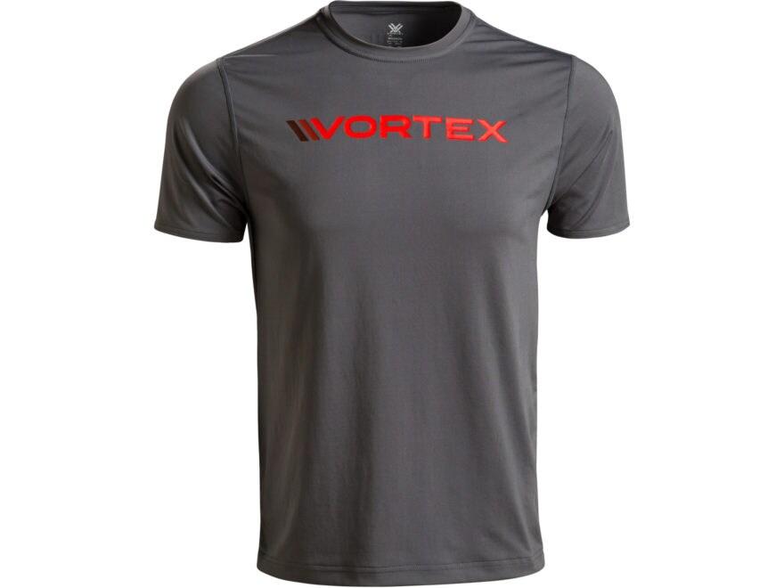 Vortex Optics Men's Performance Logo T-Shirt Short Sleeve Polyester Grey