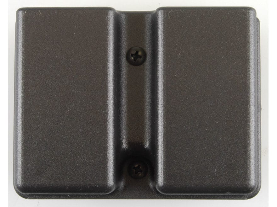 Uncle Mike's Double Magazine Belt Pouch for Double Stack Magazine Kydex Black