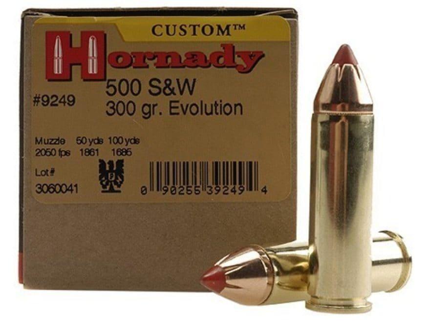 Hornady Custom Ammunition 500 S&W Magnum 300 Grain Flex Tip eXpanding Box of 20