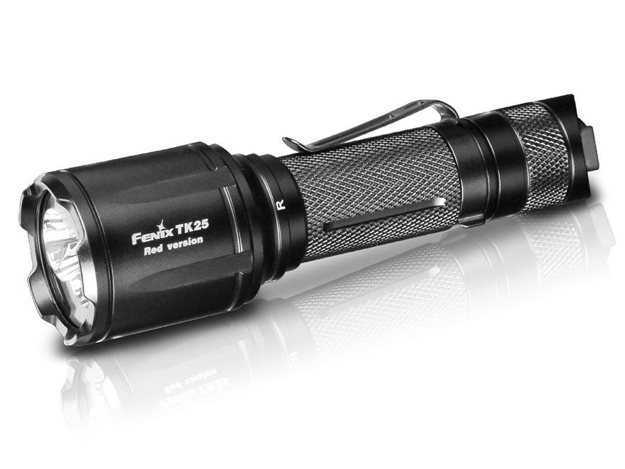 Fenix Tk25 Red Flashlight White and Red LED Requires 1 18650 Rechargeable Li-ion or CR1...