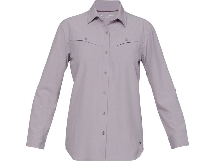Under Armour Women's Tide Chaser Button-Up Shirt Long Sleeve Polyester/Elastane