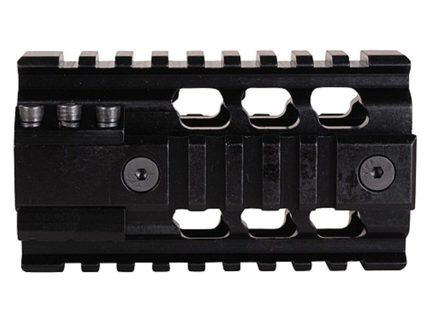 ERGO 2-Piece Z Rail Free Float Handguard Quad Rail AR-15 Aluminum Black