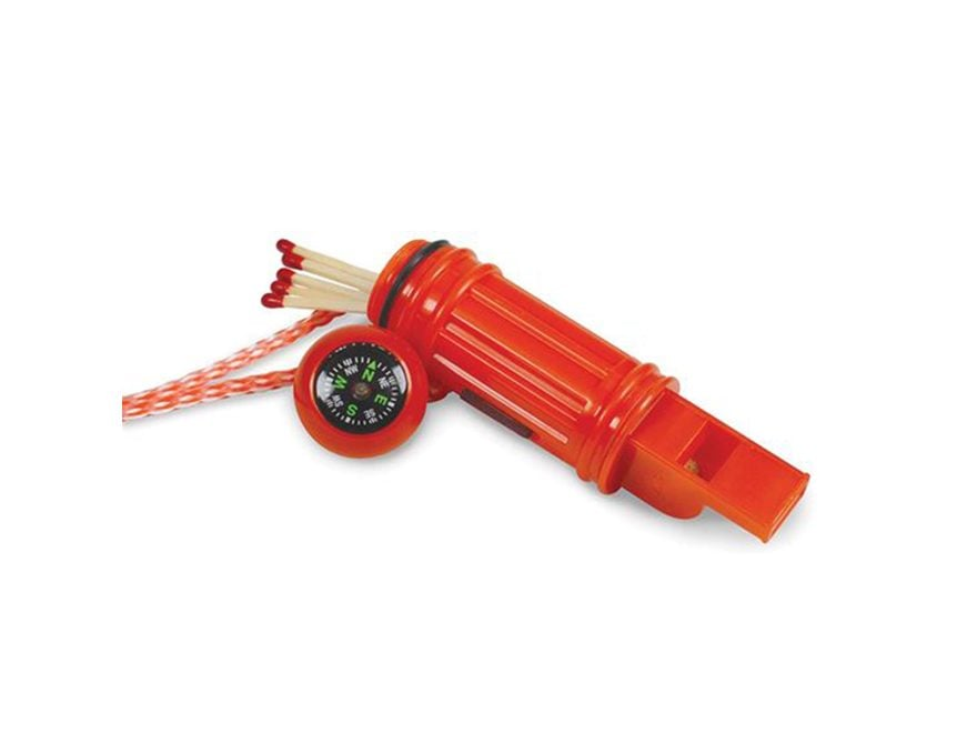 Stansport 5-In-1 Emergency Survival Whistle Polymer Red
